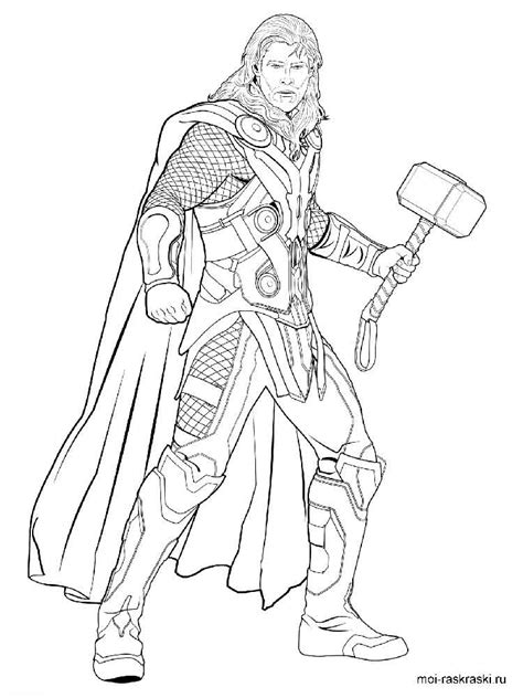 Coloring Pages Thor With Thor Coloring Pages by Coloring Pages Thor