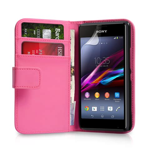 Sony Xperia E1 Hitam yousave accessories sony xperia e1 leather effect wallet