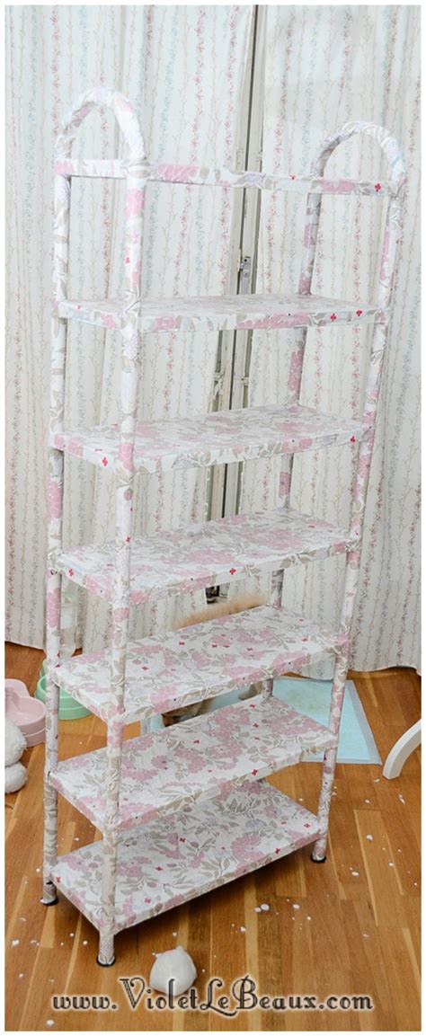 Decoupage Shelves - how to decoupage shelves home sweet home violet