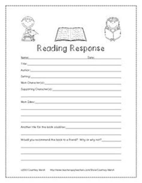 Reading Response Worksheets by Independent Reading Worksheets Lesupercoin Printables