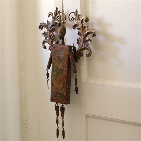 metal ornaments home decor kalalou rustic metal bell ornament che1032