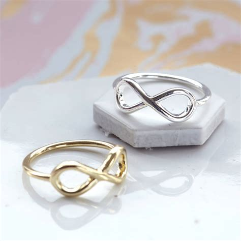 infinity rings infinity ring by junk jewels notonthehighstreet