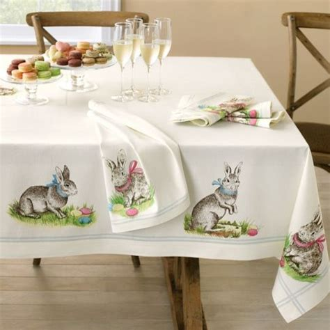 kitchen table linens printed bunny tablecloth traditional tablecloths by