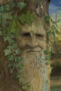 tree faces greenman print by joyce gibson