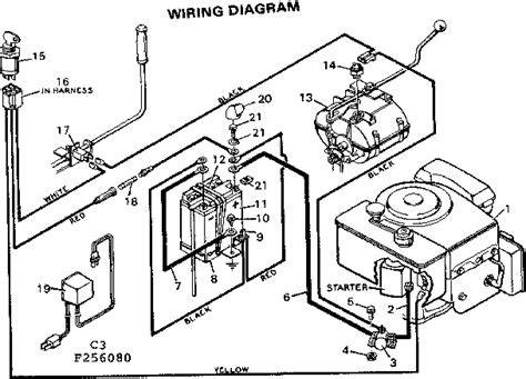 electric start lawn mower wiring diagram wiring diagram