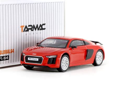 Tarmac Works Global 1 64 Audi R8 V10 Plus German Polizei tarmac works global64 1 64 audi r8 v10 plus dynamite