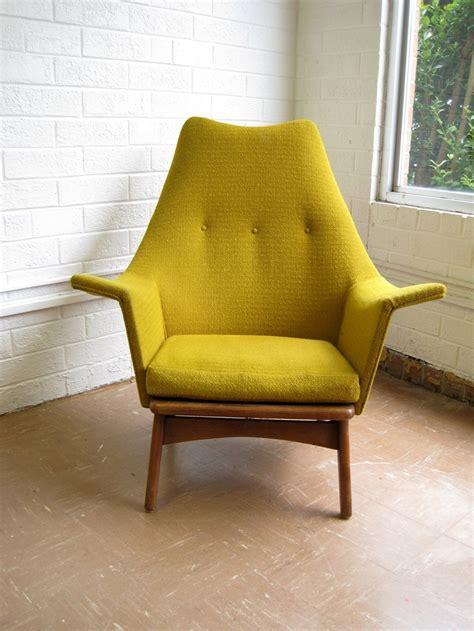 mid century modern yellow chair mid century modern lounge chair in mustard yellow