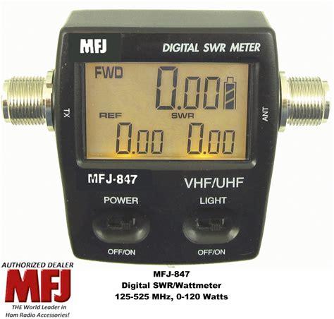 Swr Meter Digital mfj 847 digital swr power wattmeter vhf uhf 125 525 mhz 120 watts mobile base