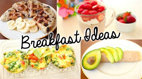 healthy easy breakfast ideas  school youtube