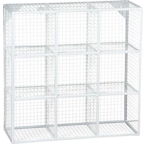 White Wire Wall Shelf Wire 9 Cube White Wall Shelf Modern Display And Wall