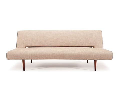 Contemporary Natural Fabric Color Sofa Bed With Walnut Sofa Sleeper