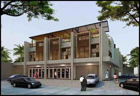 model rumah toko modern minimalis terbaru contoh model