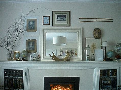 Fireplace Mantels Decor by White Fireplace Mantels Decorating With Globe And Mirror