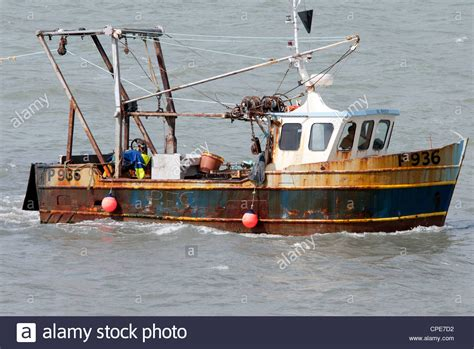 old boat in portsmouth fishing boat trawler portsmouth harbour stock photo