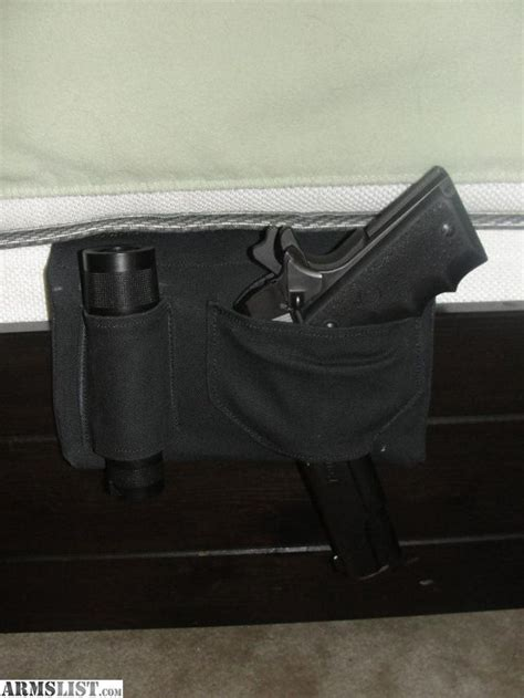 bed gun holster armslist for sale bedside gun flashlight holster