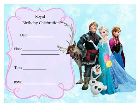 printable frozen birthday party invitations free frozen party invitations frozen party pinterest