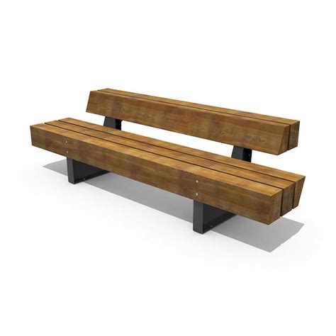 wood bench with back heavy heavy bench 171 landezine international landscape