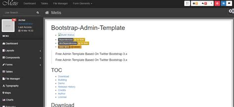 free bootstrap html5 templates top 10 free admin dashboard backend bootstrap html5