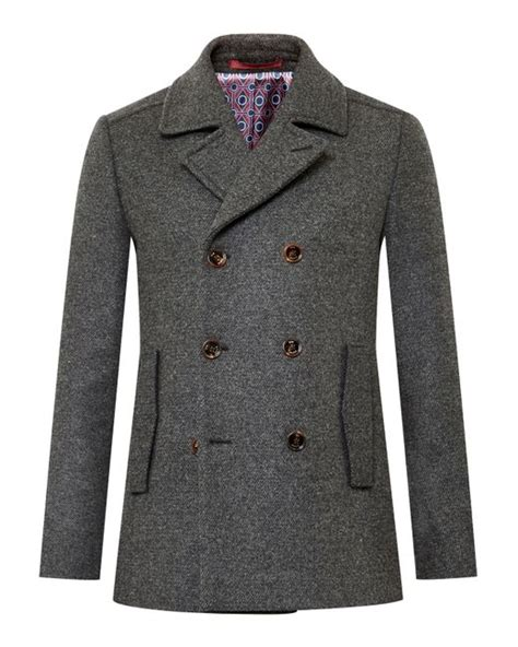 house of fraser mens shoes sale ted baker biza wool blend peacoat in gray for men lyst