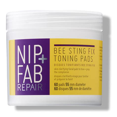 Bee Stinger Detox by Nip Fab Bee Sting Fix Toning Pads 80ml Free Shipping