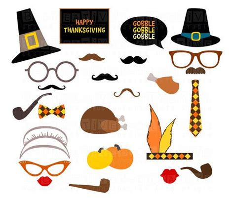 thanksgiving photo booth props thanksgiving printable photo booth props glasses hats ties pipes mustaches