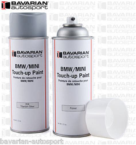 bmw touch up paint 12 oz spray can titanium silver color code 354 new for sale in