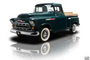 a painstakingly restored chevrolet 3100 is on display at