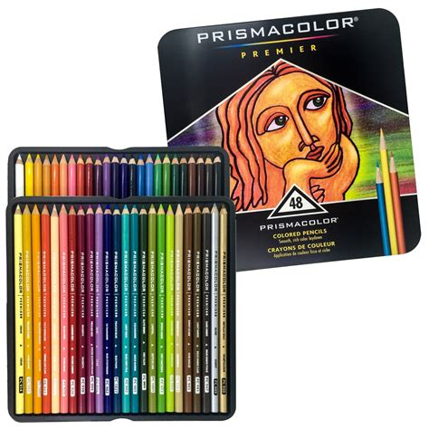 prismacolor 48 colored pencils premier soft color