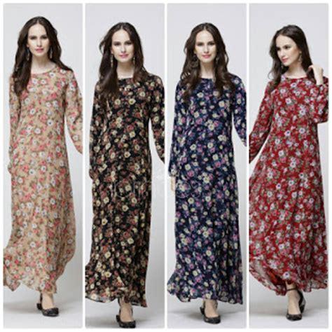Maxi Dress Brokat Maxi Dress Murah Terbaru Dress Florem Brokat dress maxi muslimah malaysia cantik murah pink my style