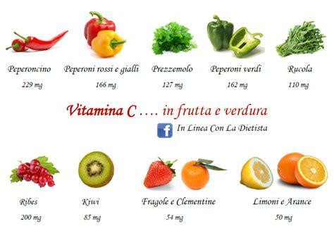 alimenti ricchi di vitamina c tabella vitamina c in frutta e verdura in linea con la dietista