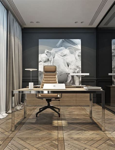modern home office 25 gorgeous home offices with black walls digsdigs