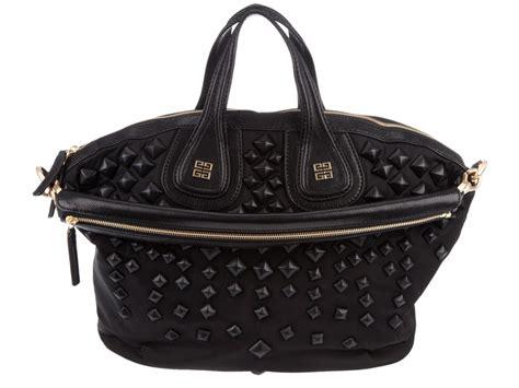 Givenchy Nightingale Bag Smooth Hardware Gold 10145 lyst givenchy studded nightingale bag in black