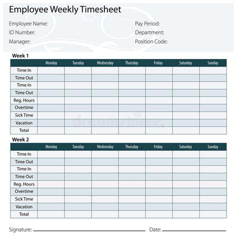 free printable timesheet templates printable weekly time sheet
