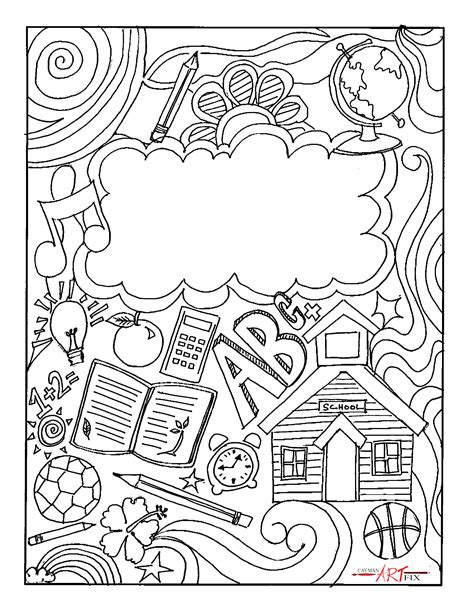 Coloring Page Binder Cover by Binder Covers Printable Binder Cover For Math Free