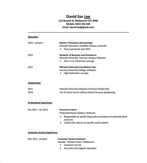 Resume Format Accountant Pdf Sle Tutor Resume Template 7 Free Sle Exles Formats
