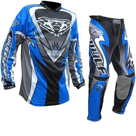 best motocross jersey wulf attack cub motocross jersey blue kit