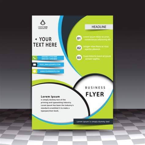 modern stylish business flyer template vector free download