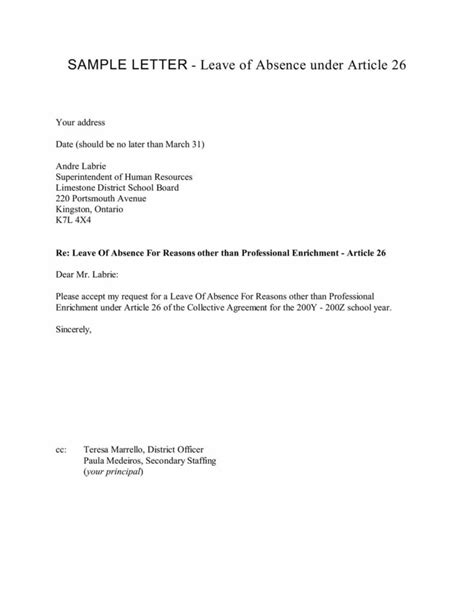 Justification Letter From Doctor justification letter for leave of absence 28 images sle formal