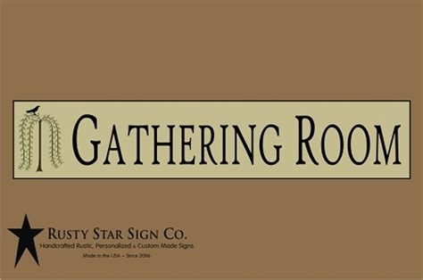 gathering room sign gathering room sign 6 x 28