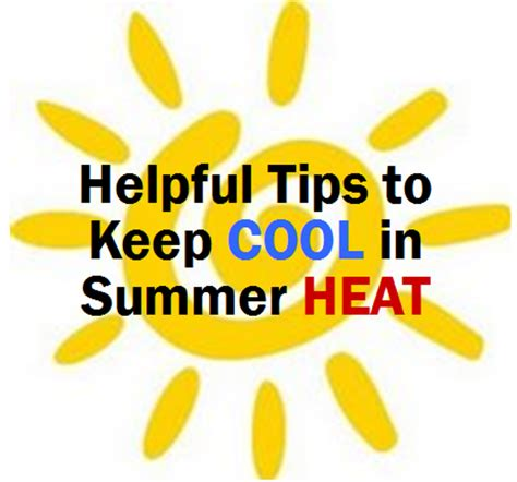 Ways To Keep Cool In The Heat by Helpful Tips To Keep Cool In Summer Heat Ny State Senate