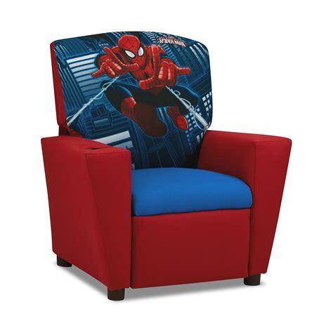 spiderman couch spider man kids furniture child s recliner american