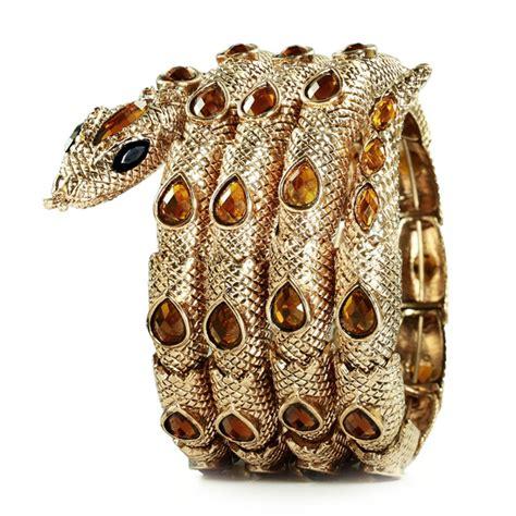 Snake Cobra Bracelet 1901 Jewelry four circles coiled stretch snake bracelet gold