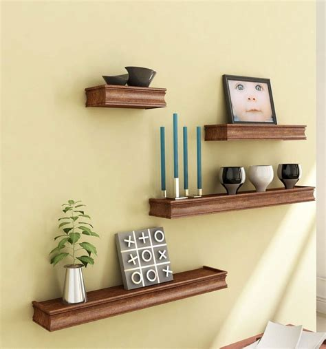 wooden wall shelves brown wooden wooden wall shelf set of four display rack shelf for hom artesia shop