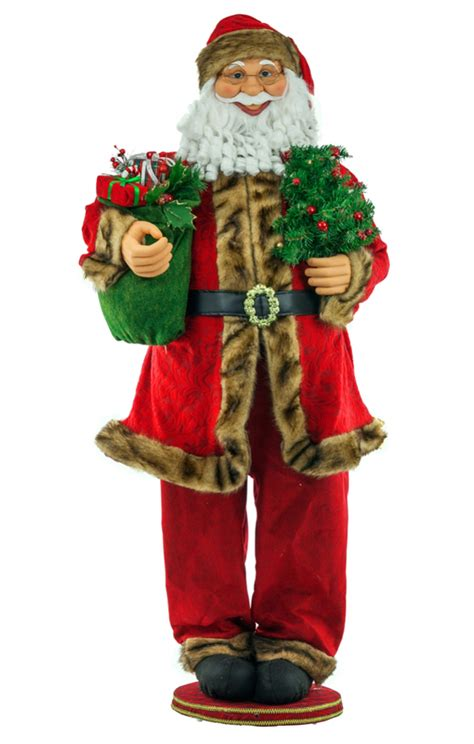 five foot santa claus 5 ft motion activated singing santa claus statue ebay