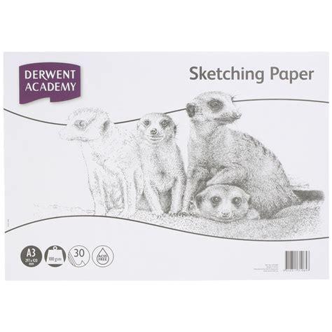 a3 sketchbook derwent derwent academy a3 sketching paper landscape 30 sheets