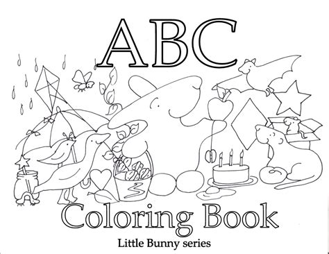 printable animal abc book coloring sheets littlebunnyseries