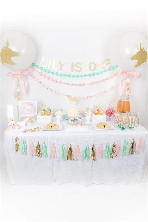 birthday party ideas simple 1st birthday decoration at home pastel unicorn first birthday first birthday party 100