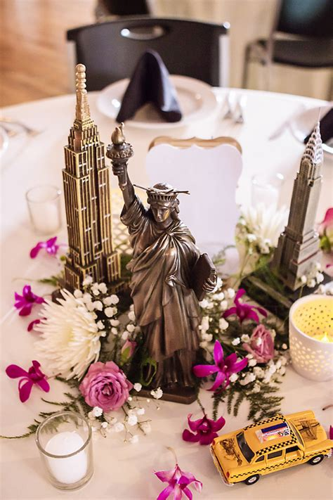 ideas for themed wedding centerpieces amit s travel themed wedding planning it all