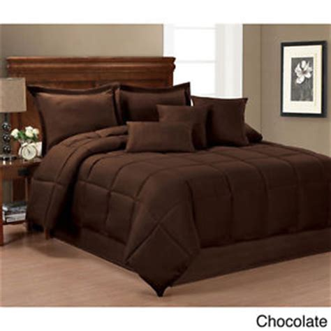 Chocolate Brown Bedding Sets Ultra Soft 7 Pc Chocolate Brown Taupe Modern Comforter Set Shams Pillows New Ebay