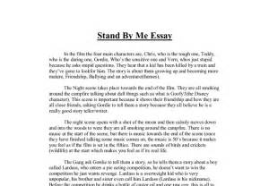 All About Me Essay High School by Stand By Me Essay A Level Media Studies Marked By Teachers